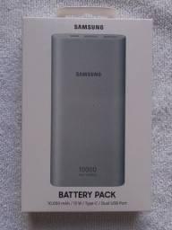 Bateria externa Samsung na caixa lacrada