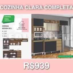 ARMÁRIO DE COZINHA CLARA COMPLETA / ARMÁRIO DE COZINHA CLARA