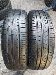Par de pneus 175/70/13 Pirelli semi novos
