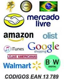 100 unidades código de barras unicos ean13 para utilizar em produtos nos marketplaces