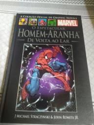 Quadrinho Marvel Homen Aranha de volta ao lar