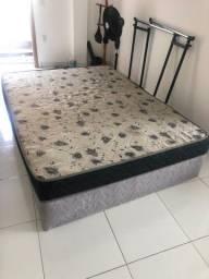 cama box casal com colchão acoplado