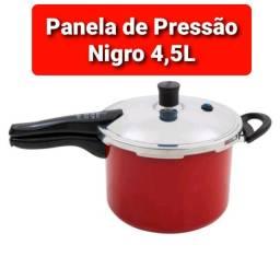 Panela de Pressão Nigro 4,5L Vermelho Alumínio