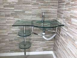 Gabinete com pia banheiro