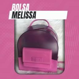 Bolsa (Leia a Descrição) Bolsa Mochila Melissa Cristal Nova Várias Cores