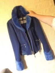 Jaqueta azul femenino