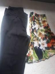 Vendo essa calça preta tamanho 42 essa saia tamanho G