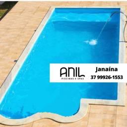 Título do anúncio: JA - Piscina Anil - piscina de fibra 8 x 3,20 x 1,00/1,40m**