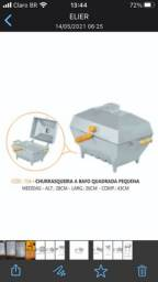 Chrrasqueira aluminio batido /fundido