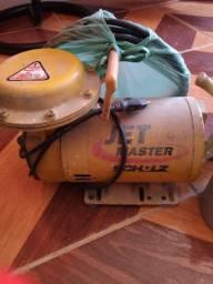 Vendo compressor tufão com pistola de aço e cabo de encher pneu aceito cartão