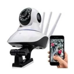 Câmera Sem Fio 360° 3 Antenas Hd Wifi