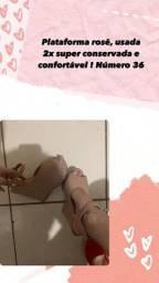 Vendo sandália plataforma nude Seminova !!