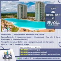 Título do anúncio: Alugo linda cobertura Duplex no Brasil Beach Resort.