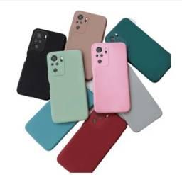 Capa Anti Impacto Xiaomi Redmi Note 10 PRO silicone aveludado com proteção de câmera.