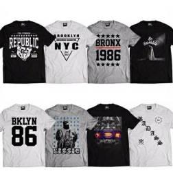 KIT Com 10 Camisetas  adulto  Swag Hip Hop 2021