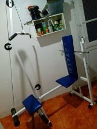 Estação musculação reto e inclinado total (pra instalar na sala)
