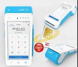 Maquininha De Cartão point Smart Mercado Pago imprime comprovante Nova