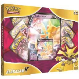 Promoção Box Pokémon Alakazam V Tcg Estampas Ilustradas Cards