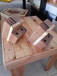 Porta facas de madeira