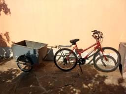Bicicleta com carrocinha