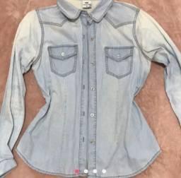 Blusão Jeans Clara Feminina Tam.M Semi Nova R$ 25