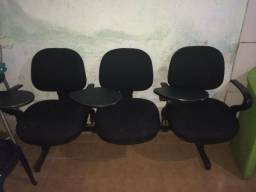 Cadeira longarina 3 lugar