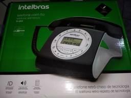 Telefone Retro Com Fio Intelbras Tc8312 Preto