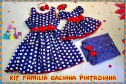 Kit Família Galinha Pintadinha