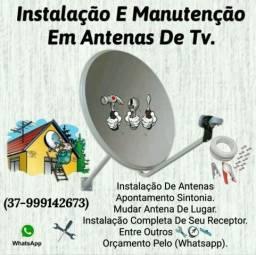 Instalação E Manutenção Em Antenas De Tv Banda K-U Em Itaúna