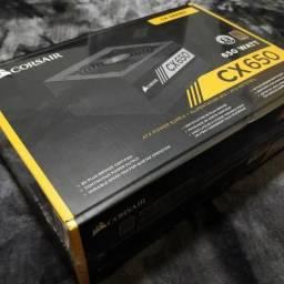 Fonte PSU Corsair CX650 lacrada com NF e Garantia de 5 anos