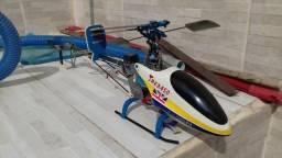 Helicoptero t-rex 450 completo em ótimo estado