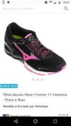 fd31810449 Tênis Mizuno Wave Frontier 11 feminino - preto e r