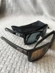 4a4c42e00762b Óculos Oakley Holbrook Preto e Marrom