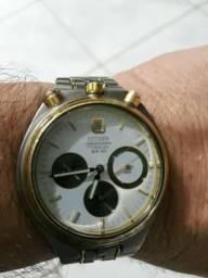 97b4eb8f3e7 Raro Relógio Citizen Bull Head Chifrudinho Chronograph Titanium anos 80.  Made in Japan