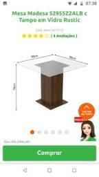 Vendo mesa Madesa nova tampo vidro 0,90x0,90