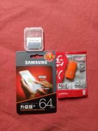 Cartão de memória samsung 64gb