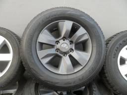 Rodas hilux srv mais pneus aro 17 ( jogo 4 )