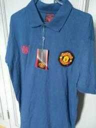 Camisa Pólo Futebol Retrô Manchester United