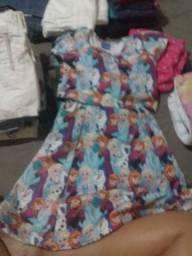 Lote de roupa com 70 peças para menina de veste do 4ao 8anos