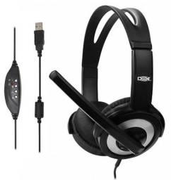 Headset Fone e Microfone Conexão USB Headphone Head Phone Head Set Fone de Ouvido