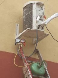 Carga de gaz e instalação