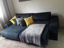 Sofá cama grande confortavel luxo