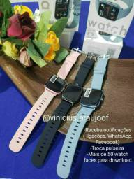 Relógio smartwatch P8 PROMOÇÃO, Tela Touch, atualizado (+ de 50 face watch)