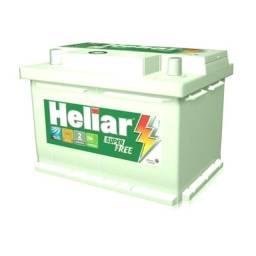 Bateria Nova 60Ah Heliar Super Free 24 meses garantia 480CCA Promoçao