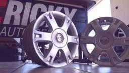 Jogo Rodas R16 Aro 16 GM Vectra Elegance 4 Furos 4x100 Semi Corsa Celta Prisma Onix
