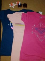 Camisas disponíveis