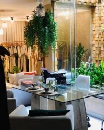 Mesa de Granito Italiano com Vidro