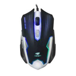 Mouse Gamer Mg-11bsi Usb Preto/Prata C3tech