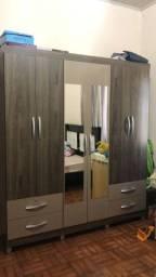 Guarda roupa com espelho 6 portas