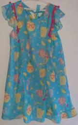 Vestidinho de frutinha infantil